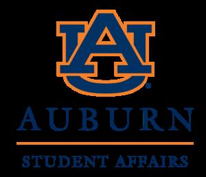 Interlocking AU and Auburn Student Affairs stacked logo