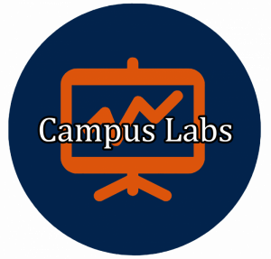 "blue button with graph icon linking to ""Campus Labs"""